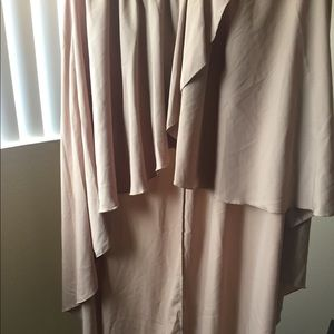 Dresses & Skirts - Beige High-Low Skirt